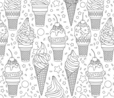 Ice Cream Frenzy  fabric by elysesanderson on Spoonflower - custom fabric