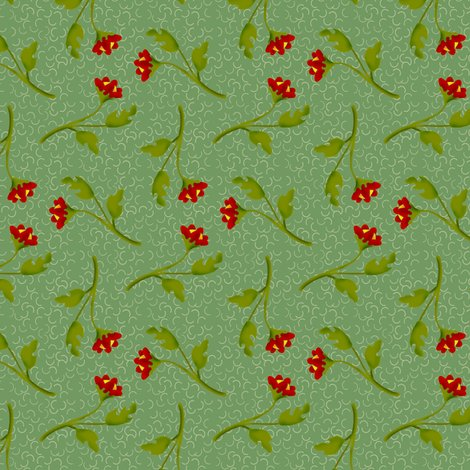 Rretro-tossed-red-flower-sprigs-on-green-squiggles_shop_preview