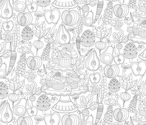 My kind of cravings fabric by geetanjali on Spoonflower - custom fabric