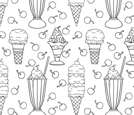 Ice Cream Frenzy  fabric by dianewarren on Spoonflower - custom fabric