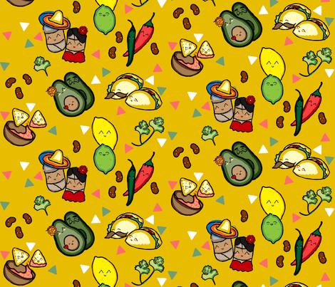 Taco Love fabric by sowilofir on Spoonflower - custom fabric