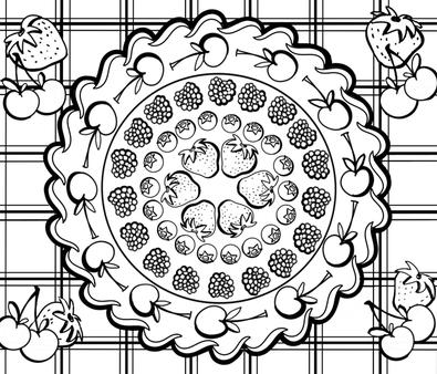 A Berry Cherry Pie fabric by gcatmash on Spoonflower - custom fabric