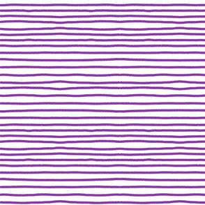 Sketchy Stripes // Med. Vibrant Purple
