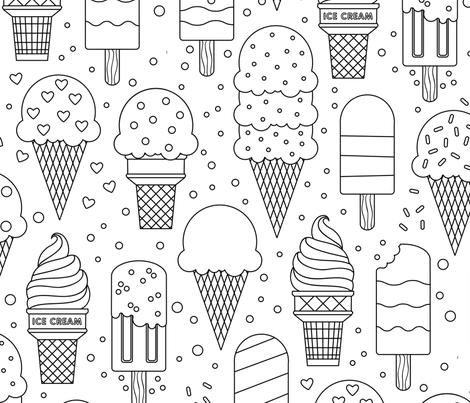 Summer Treats fabric by lellobird on Spoonflower - custom fabric