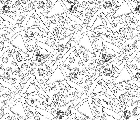 Pizza fabric by abbeyrow on Spoonflower - custom fabric