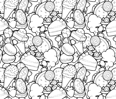 """""""Color Me"""" Sweet Treats fabric by lyddiedoodles on Spoonflower - custom fabric"""