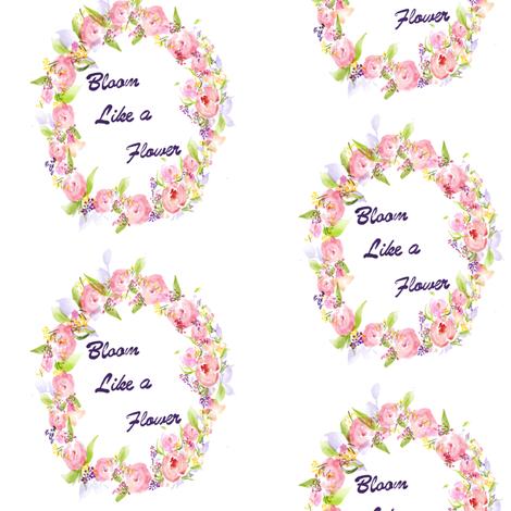 Watercolor Flower fabric by jjdesignwithlove on Spoonflower - custom fabric