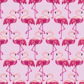 Flamingos boo'd up