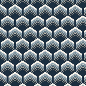 Art Deco Chevron Blue
