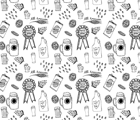 Vintage Beer fabric by jbyrd22 on Spoonflower - custom fabric