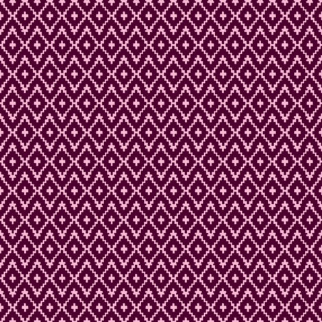 Southwest Diamond Chevron _ Burgundy & Pink _ small fabric by alison_janssen on Spoonflower - custom fabric