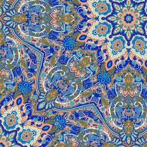 paisley-kaleidoscope-floral-leaf-symmetry-blue-peach