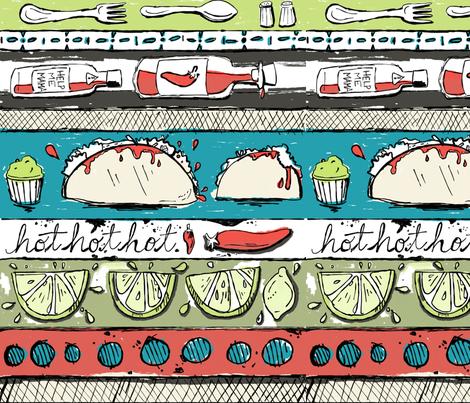 Taco Tuesday fabric by tiffanyagam on Spoonflower - custom fabric