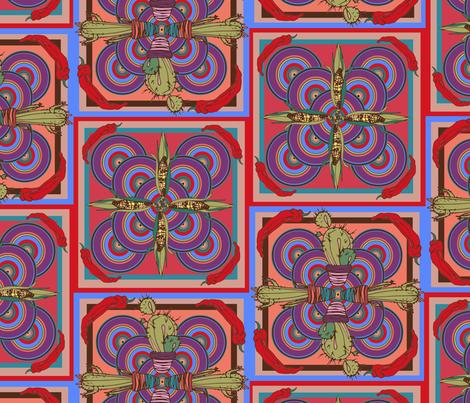 MEXICO CACTUS SWEETCORN _ CHILLI fabric by stuffndnonsense on Spoonflower - custom fabric