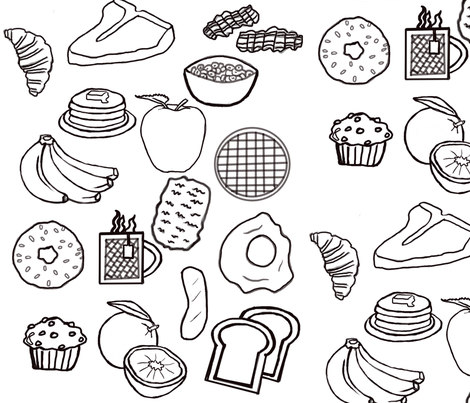 Breakfast Time fabric by korat_designs on Spoonflower - custom fabric