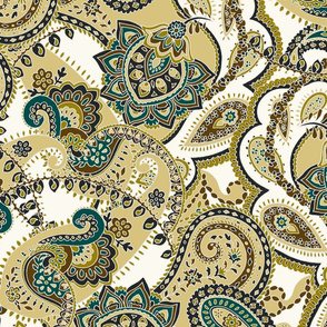 Paisley-sixties-hippie-swirl-olive-green
