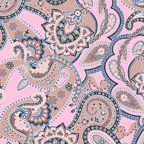 Paisley-sixties-hippie-swirl-tan-pink