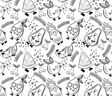 Tutti Frutti Summertime fabric by laveroniquedesign on Spoonflower - custom fabric