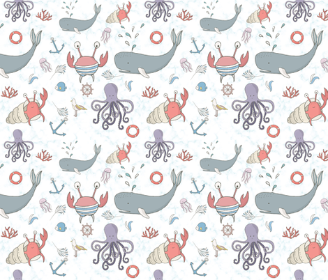 Under the Sea fabric by littlebittyprints on Spoonflower - custom fabric