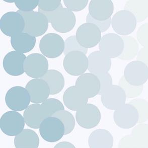 Blush Turquoise Ombré Dots