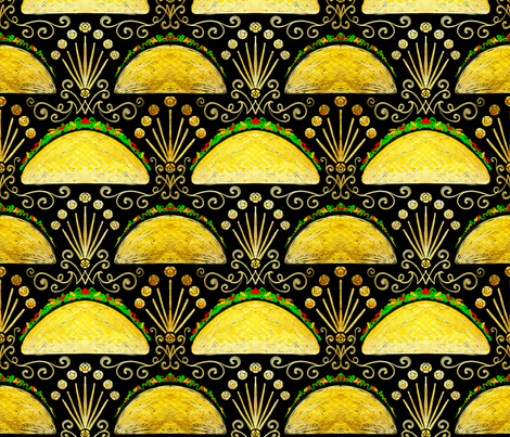 Taco Taco Burning Bright fabric by beesocks on Spoonflower - custom fabric