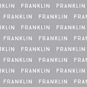 franklin // on gray