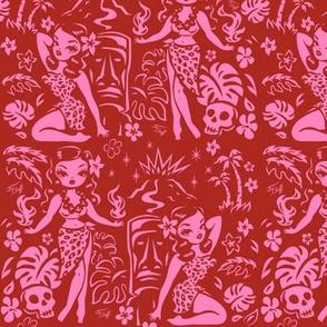 Medium-Tiki Temptress-pink-red