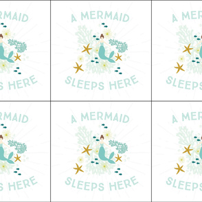 6 loveys: A Mermaid Sleeps Here Lovey // Brunette
