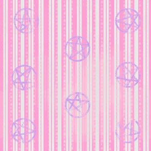 Pentacle Stripes Candy Pink