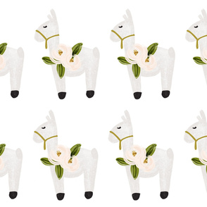 floral llama plushie fronts // 8