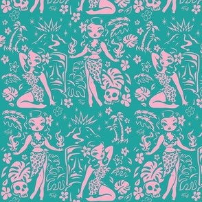 Medium-Tiki Temptress--pink-turq