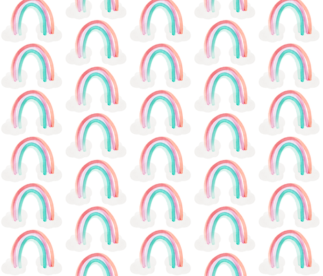 sorbet rainbows no. 1 fabric by ivieclothco on Spoonflower - custom fabric