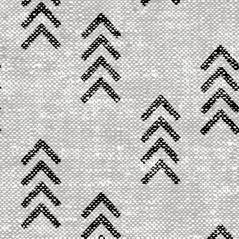 arrow stripes - black on greige fabric by littlearrowdesign on Spoonflower - custom fabric
