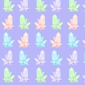 crystals purple
