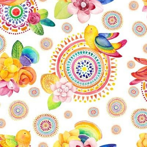 Happy Life - Birds and Rainbows