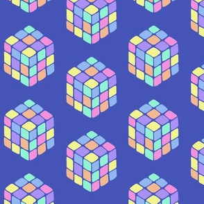 rubiks cube blue