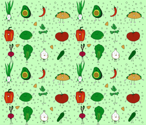 Yas Tacos! fabric by ginabeana on Spoonflower - custom fabric