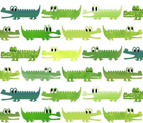 Alligator Roll Call fabric by gumbo_gator on Spoonflower - custom fabric