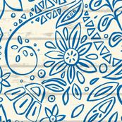 aziza mono blue
