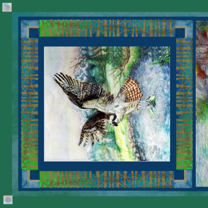 Wild Spirit Wildlife Panel - Osprey And Racoon