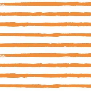 Painted Orange Stripes (Distressed, Grunge Stripe, Halloween)