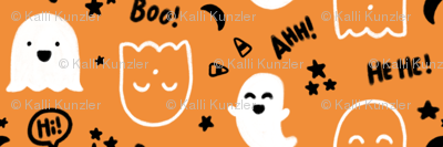 """""""Happy Ghosts"""" for Halloween (Candy Corn, Stars, Moon, Happy Ghost)"""