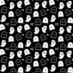 "MINI scale ""Happy Ghosts"" Black and White for Halloween"