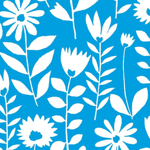 cutout flower (white on blue)