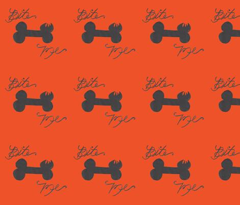 Bite me orange and black fabric by debra_may_himes,_asid on Spoonflower - custom fabric