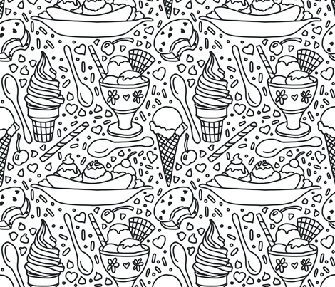 Ice Cream Dreams fabric by modernrosie on Spoonflower - custom fabric