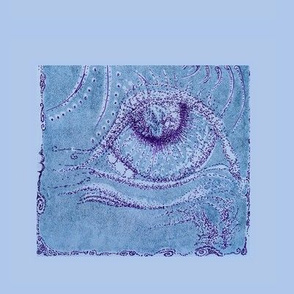 "Print/Line/Stippling-Crop- Teal/Purple 5.5""X7"""
