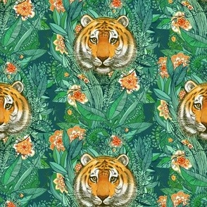 Tiger Tangle in Color - small print