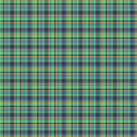 BNS3 - Tartan Plaid in Orange - Teal Blue - Purple - Green  -  Small Scale fabric by maryyx on Spoonflower - custom fabric