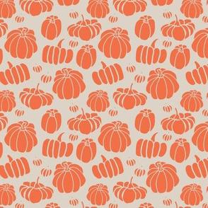 autumn orange pumpkins - small scale